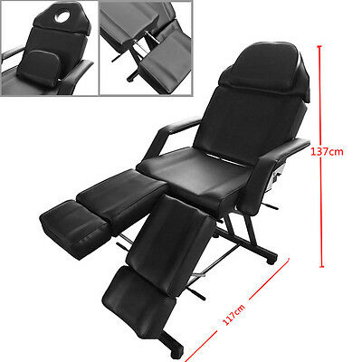 Black Salon Chair Balance Massage Table Facial Tattoo Couch Bed Spa Treatment