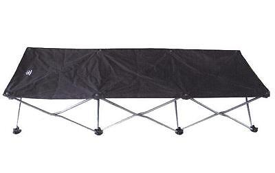 Camp Bed - concertina folding Black Easy Fold Full Size New Camp Bed - new