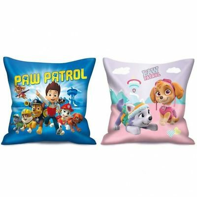 Childrens Kids Paw Patrol Chase Skye Soft Square Cushion Pad Pillow Case Bedding