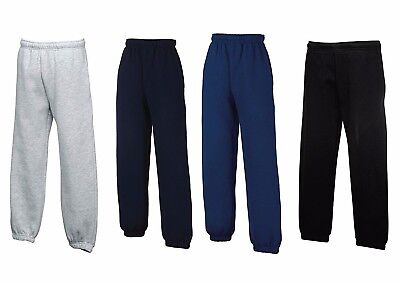 Fruit of The Loom Kids Jog Jogging Bottoms Sweat Pants Sport PE Gym School