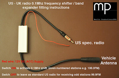 US FM radio band expander / frequency shifter / American to UK radio convertor -