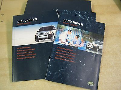 Landrover Discovery 3 Owners Manual Handbook & Sat Navigation 2005-2008