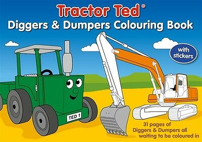 Tractor Ted Diggers & Dumpers Colouring and Sticker Book *OFFICIAL*