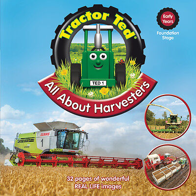 Tractor Ted All About Harvesters Book *NEW* - Direct from Tractor Ted Warehouse