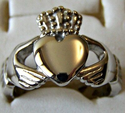 Size:7 _Celtic _ Claddagh ~ S/steel  ~ Ring--- (Great_Christmas_Gift)