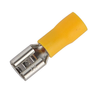 20pcs 10-12 AWG Insulated Female Spade Wire Crimp Terminal Connector Yellow