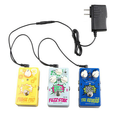 JOYO US PlUG 9V GUITAR EFFECTS PEDAL POWER SUPPLY ADAPTER & 3 WAY DAISY CHAIN