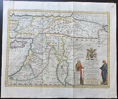 c.1712 Map of Asia Minor by Edward Wells