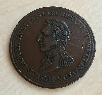 "1812 Wellington ""Peninsular War"" Copper Halfpenny - Canada Interest? (A111)"