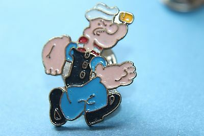 vintage -Popeye the sailor man running Enamel Pin badge.