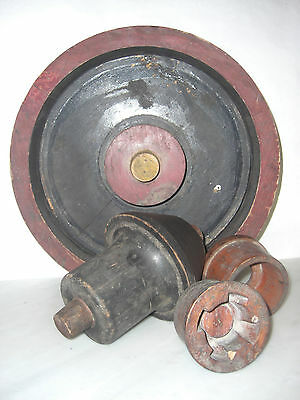 4  Antique Machine Age Industrial Wood Foundry Mold Pattern Steampunk