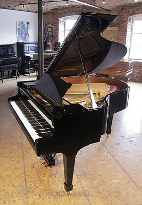 Rebuilt, 1922, Steinway Model M grand piano with a black case