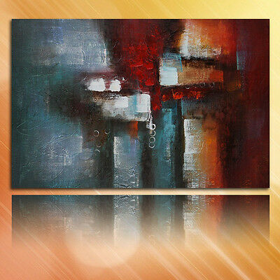 Framed Modern Abstract Wall Art Decor Oil Painting On Canvas Hand Draw 80x120cm