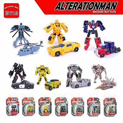 7pc/set Transformers Bumblebee Robots Optimus Prime Vehicles Autobots Xmas Gifts
