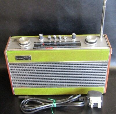 Vintage Roberts R606-Mb 3 Band Radio In Green - Good Cond - Mains Or Battery