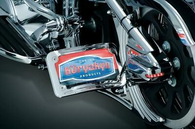Kuryakyn Mount Clamps for Side Mount License Holders, Chrome 86-11 SPORTSTER MOD