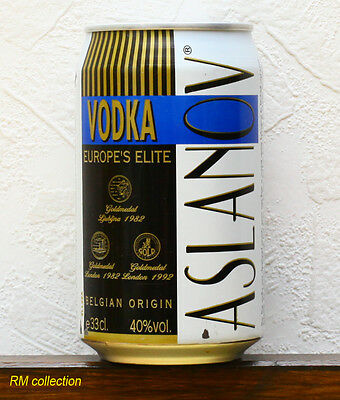 Aslanov Belgium vodka 0,33L can 1997 empty