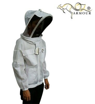 "Beekeeping Jacket ""oz Armour"" Ventilated Double Layer Mesh Fencing/folding  Veil"