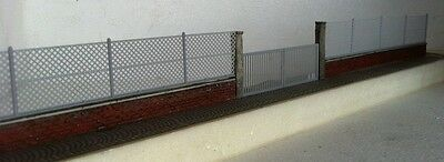 A08 D.M. HO wall fence in brick rossi resin gate and net