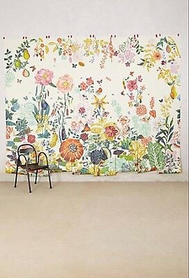 $550 New Anthropologie Great Meadow Mural Natalie Lete Wallpaper Top Rated