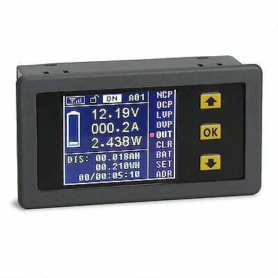 DROK DC 0-120V 0-100A Digital Multimeter Charge-Discharge Battery Tester, Volt