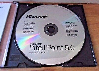 Microsoft Intellipoint v5.0 Mouse Software Windows CD