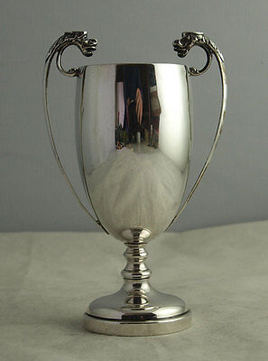 Elegant Solid SIlver Trophy Cup - Dragon Mask Handles - 106g - London 1937