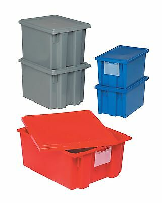 """Quantum Storage Tote Box Lid, Gray, 16"""" Outside Length, 10"""" Outside Width,"""
