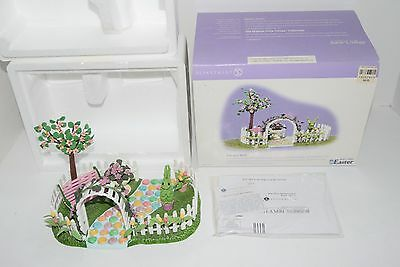 Department 56 Easter ONE HOP WALK 55160 Snow Village Bunny Topiary RARE Cute D56