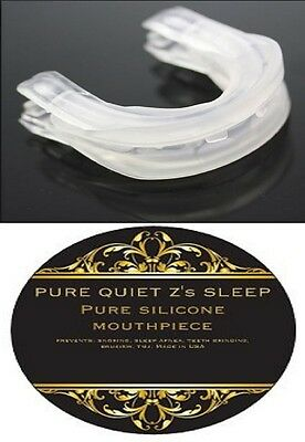 PURE QUIET Z's SLEEP ~ ANTI SNORE MOUTHPIECE ~ STOP SNORING APNEA AID GUARD 2P