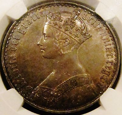 "1847 Victoria ""Gothic"" Crown NGC Graded PF58"
