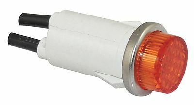 "Raised Indicator Light, Neon Lamp Type, 120VAC Voltage, 1/2"" Mounting Dia. Size"
