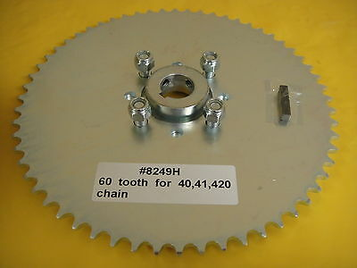 "Go Cart Sprocket And Hub For 1"" Axle ,60 Tooth For #40,41 &420 Chain  Wao: 8249H"