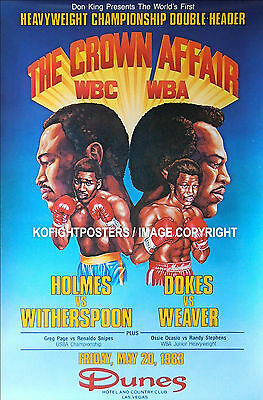 LARRY HOLMES vs. TIM WITHERSPOON / Original Onsite Vintage Boxing Fight Poster