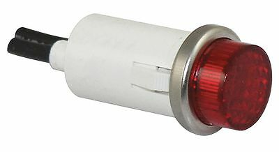 "Raised Indicator Light, Neon Lamp Type, 240VAC Voltage, 1/2"" Mounting Dia. Size"