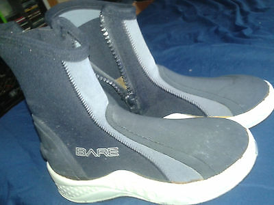 Bare 6mm Ice Boot cold water 6mm Neoprene Scuba Diving wetsuit bootie Size 6
