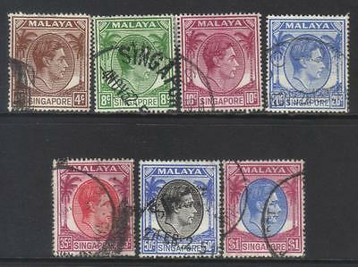 Singapore 1948-1952 Defins 7 Used Values