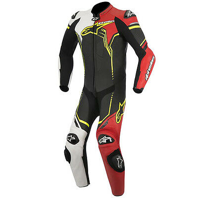 Alpinestar Alpinestars GP Plus Leather 1 One Piece Suit  Black White Red Yelllow