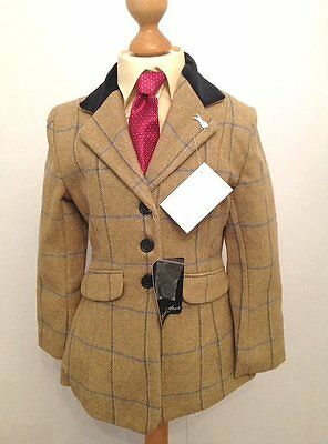 Bnwt Childs Sherwood Campolino Pure Wool Tweed Showing Jacket Size 28