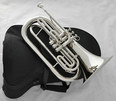 Professional JINBAO Brand Marching Baritone Silver Nickel Horn B-Flat With Case