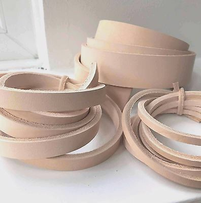 180cm NATURAL VEG TAN LEATHER STRAPS BELT BLANKS STRIPS 2mm thick various width
