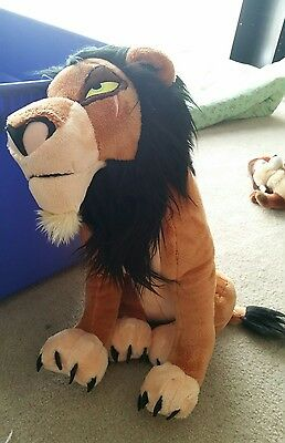 "The Lion King 18"" SCAR Plush Stuffed Toy w Tags Disney Store Exclusive"