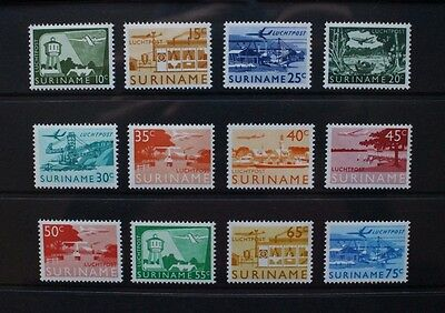 SURINAME 1965 Airmail Aviation Aircraft. Set of 12. Mint Never Hinged. SG551/562