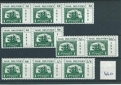 wbc. - GB STRIKE MAIL - SM630- MAIL DELIVERY - ten stamps.