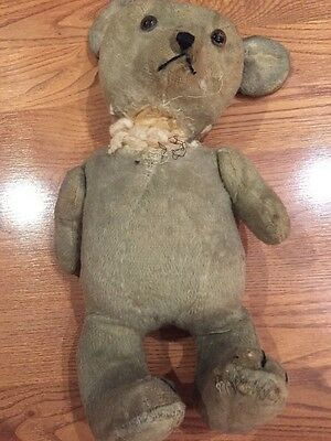 Antique Mohair Teddy Bear teens-1920's?
