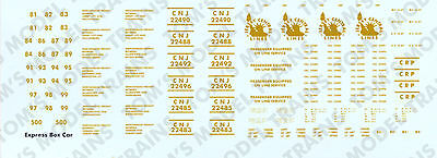 4-05 N Scale CNJ,Jersey Central Lines, CRR of NJ Express Box Car Decals