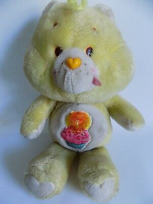 Vintage 1980s Toy 13 Inch Care Bear Carebear Stuffed Plush Birthday Bear
