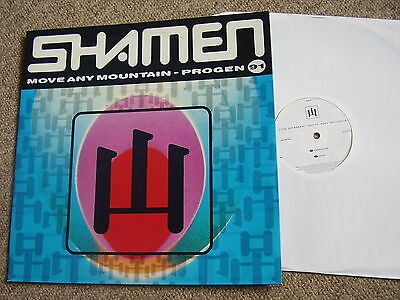 """THE SHAMEN Move Any Mountain - Progen 91 ONE LITTLE INDIAN 12"""" PS NM/VG+"""