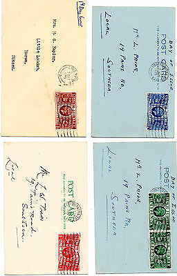 Stamps Fdc 1935 Silver Jubilee Set Of 4 Covers