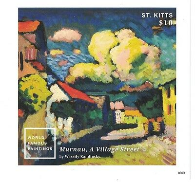 St Kitts - 2016 World Famous Paintings: Kandinsky - S/S MNH